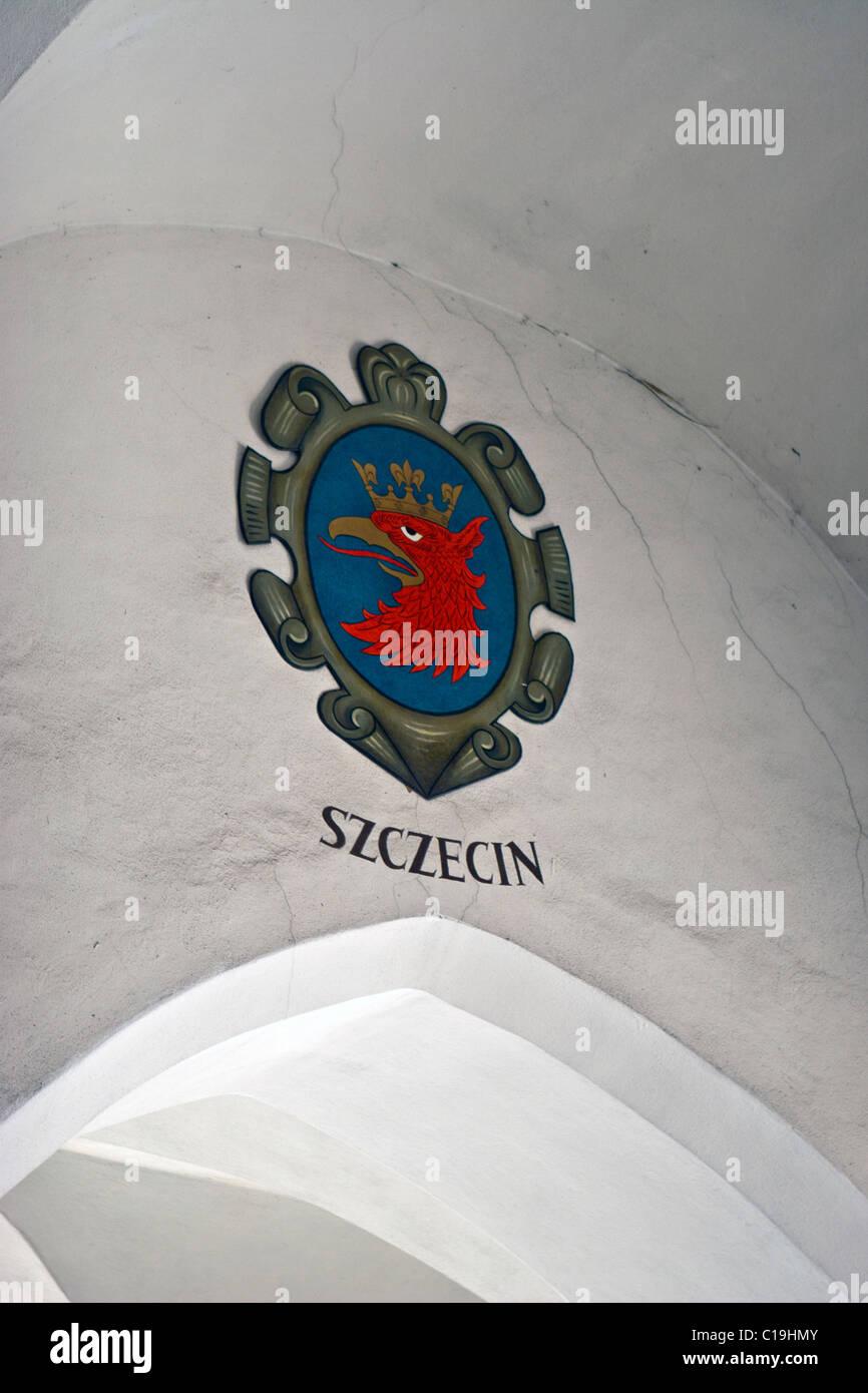 Szczecin Coat Of Arms Painted On A Wall Inside The Cloth Hall, Kraków,  Poland