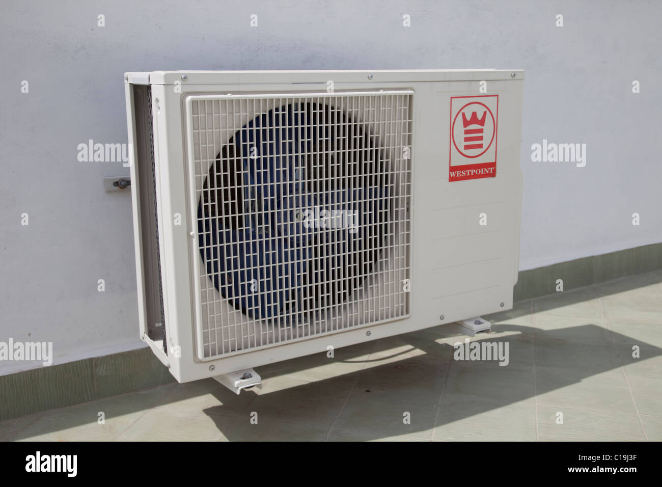 Stock Photo   Westpoint Air Conditioner Unit Mounted On Roof Of House Kenya