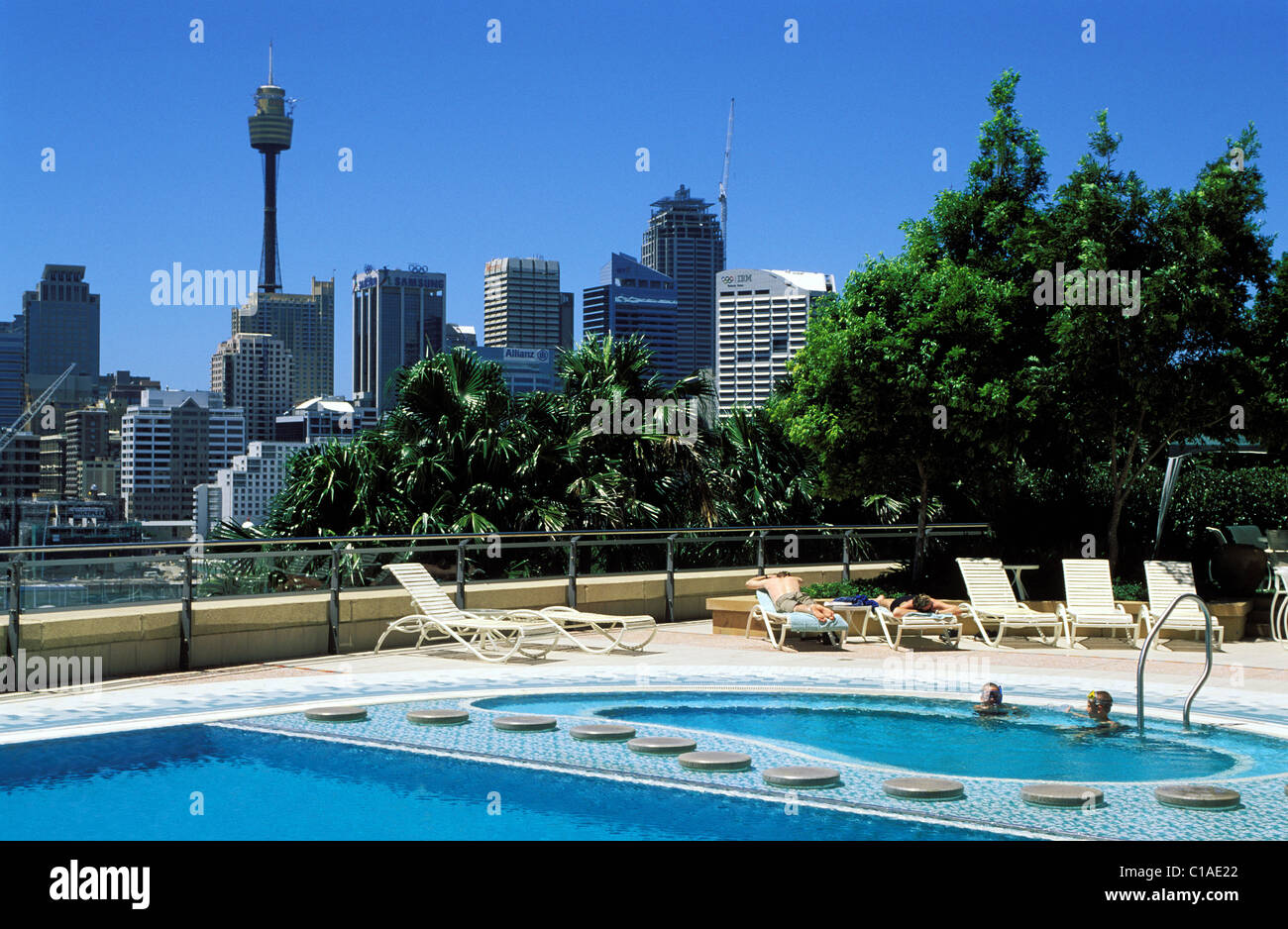 Australia New South Wales Sydney Swimming Pool Of The Starcity Stock Photo Royalty Free