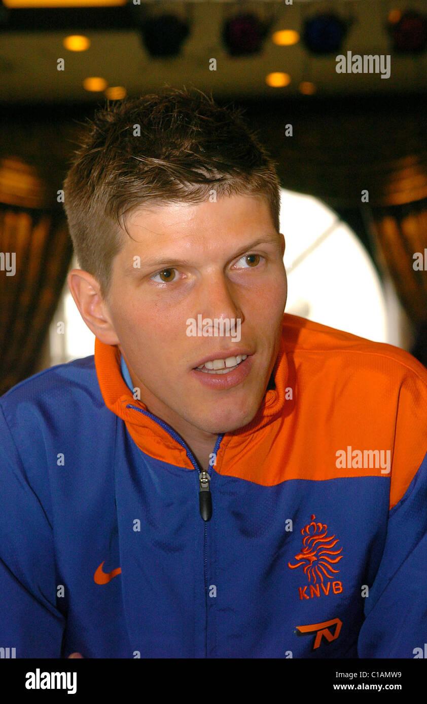 Klaas Jan Huntelaar The Dutch national football squad hold a press