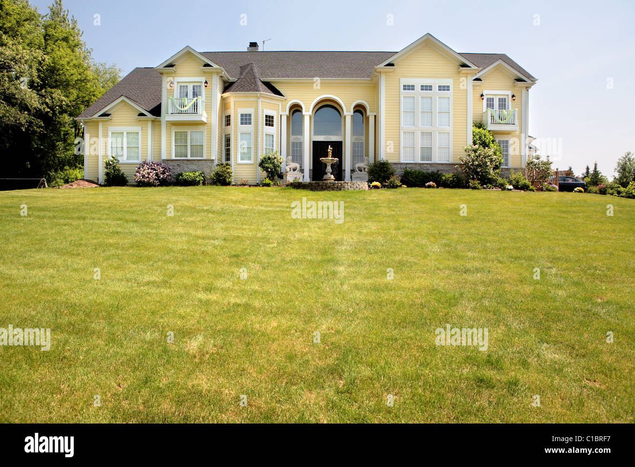 House manor mansion midwest illinois america private grass for Housse illinois