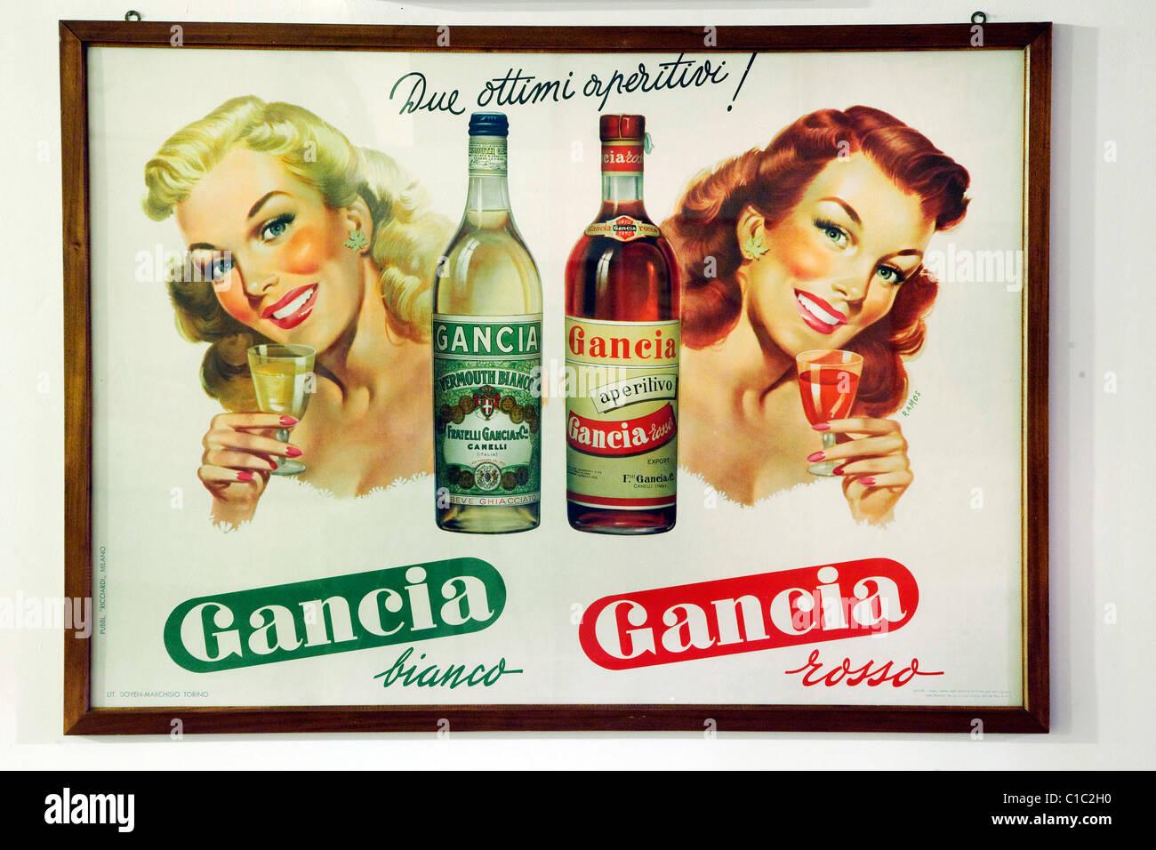 Gancia Underground Wine Cathedral In Canelli, Vintage Advertisment ...