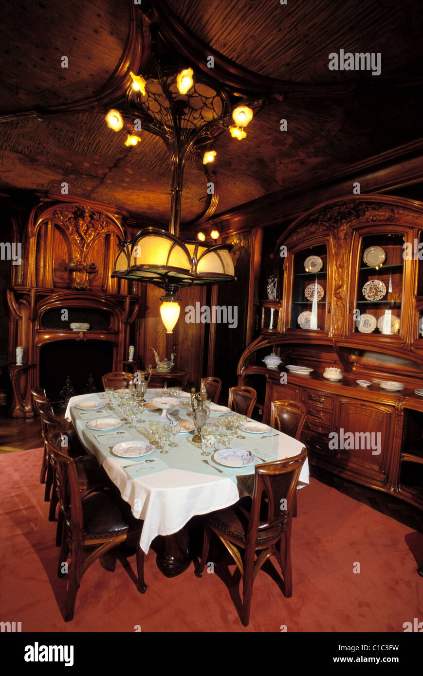France Meurthe Et Moselle Nancy Dining Room In Art Nouveau Style By Eugene Vallin School Museum