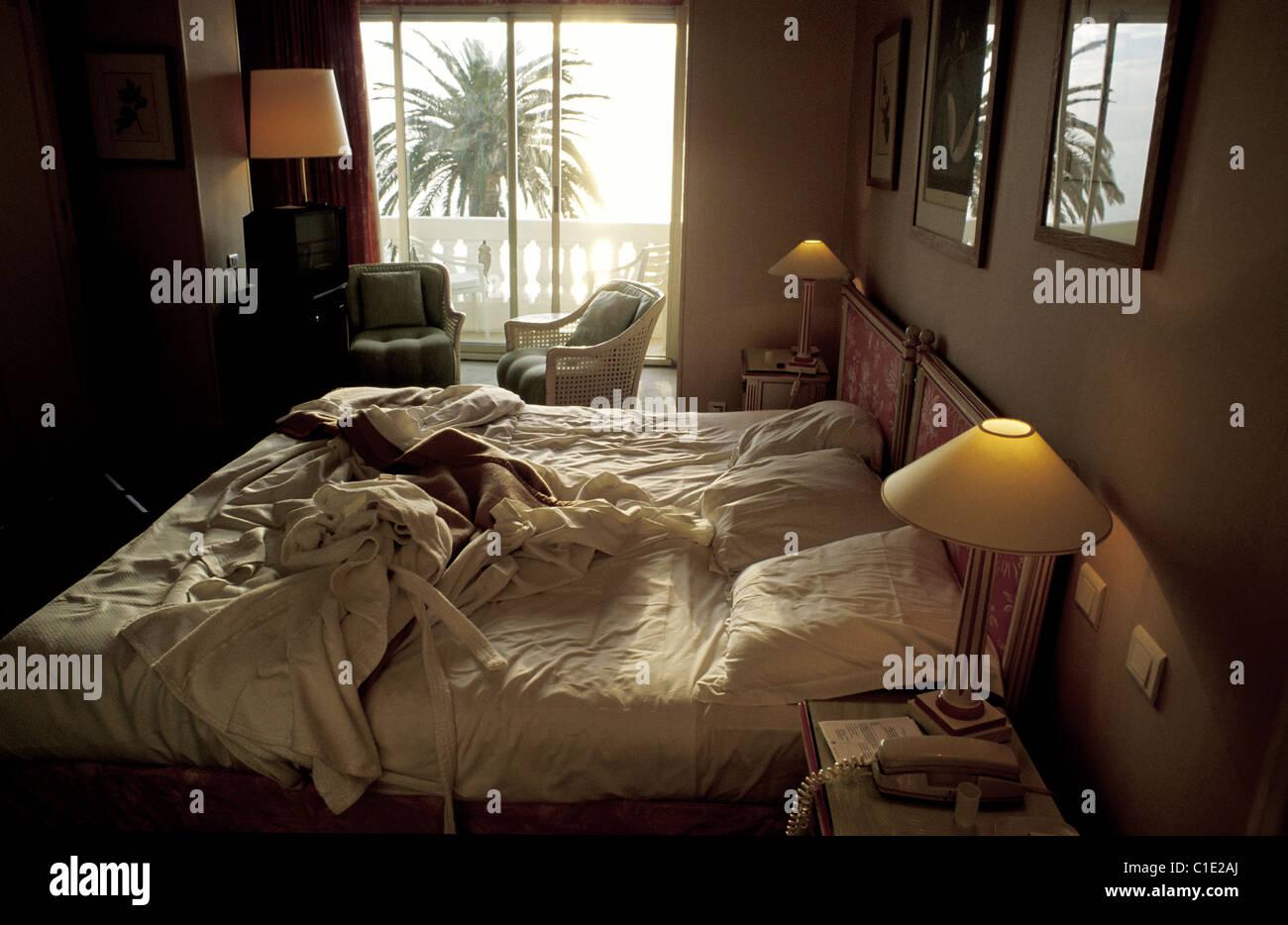 france alpes maritimes beaulieu sur mer hotel metropole room stock photo royalty free image. Black Bedroom Furniture Sets. Home Design Ideas