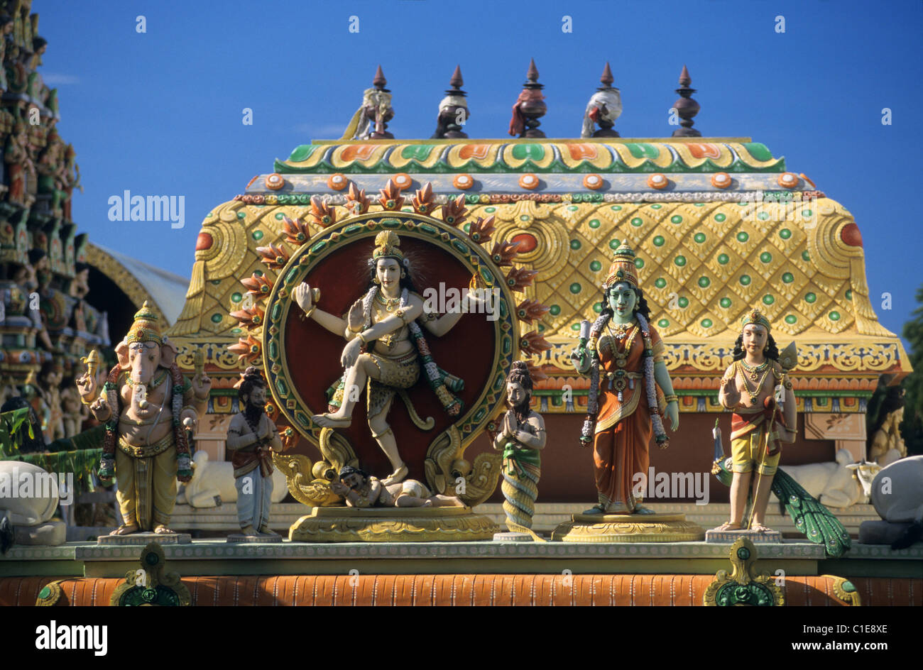 tamil temple saint denis la reunion island france indian ocean stock photo 35349734 alamy. Black Bedroom Furniture Sets. Home Design Ideas