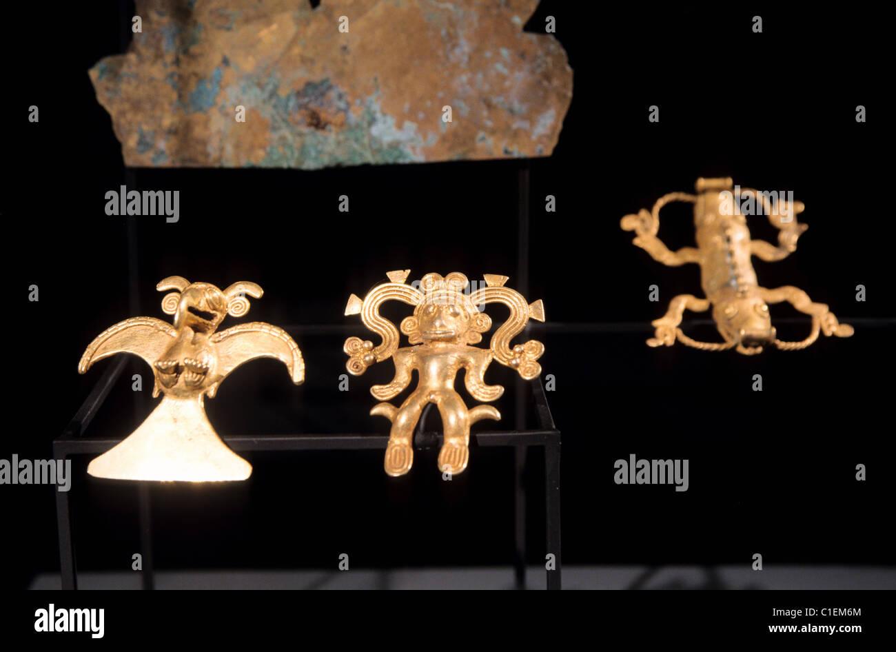 Pre columbian art stock photos pre columbian art stock images chile santiago pre columbian art museum inca gold jewels stock image buycottarizona