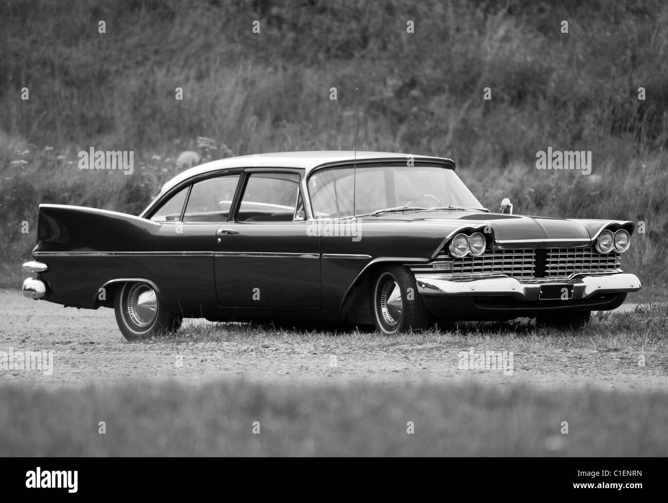 classic american car plymouth fury belvedere 1958 stock. Black Bedroom Furniture Sets. Home Design Ideas