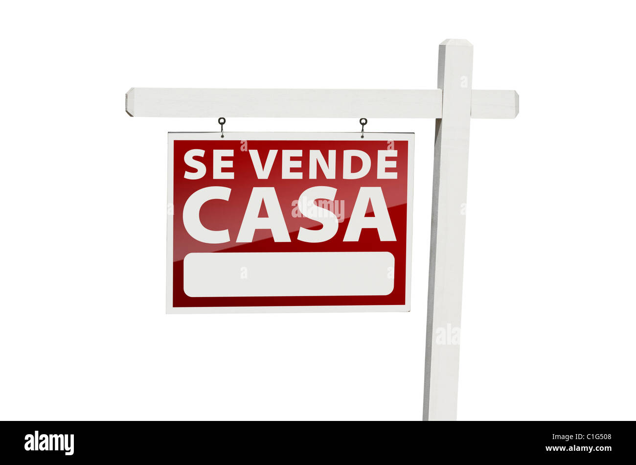 Spanish Se Vende Casa Real Estate Sign with Clipping Path Isolated ...