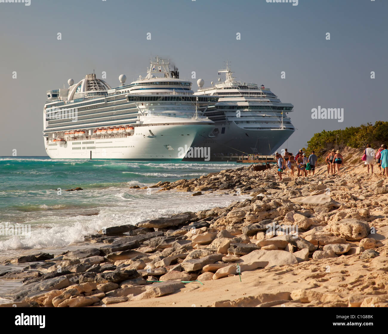 Cruise Ships In Port At Grand Turk Island Caicos Stock Photo - Turks and caicos cruise ship schedule