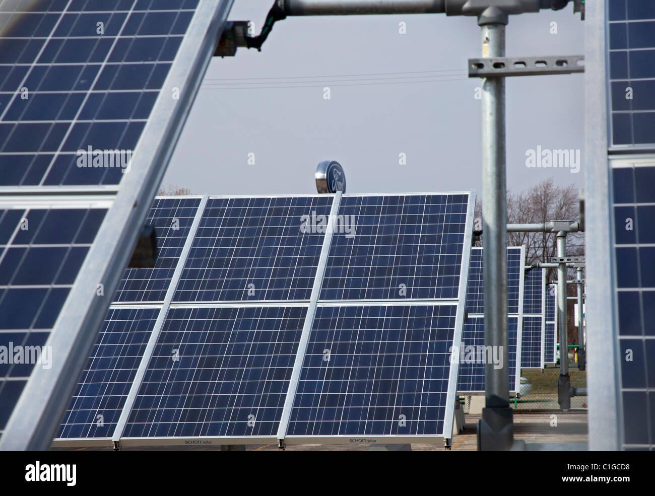 Wayne michigan a 500 kilowatt solar array helps power for Ford motor company wayne mi