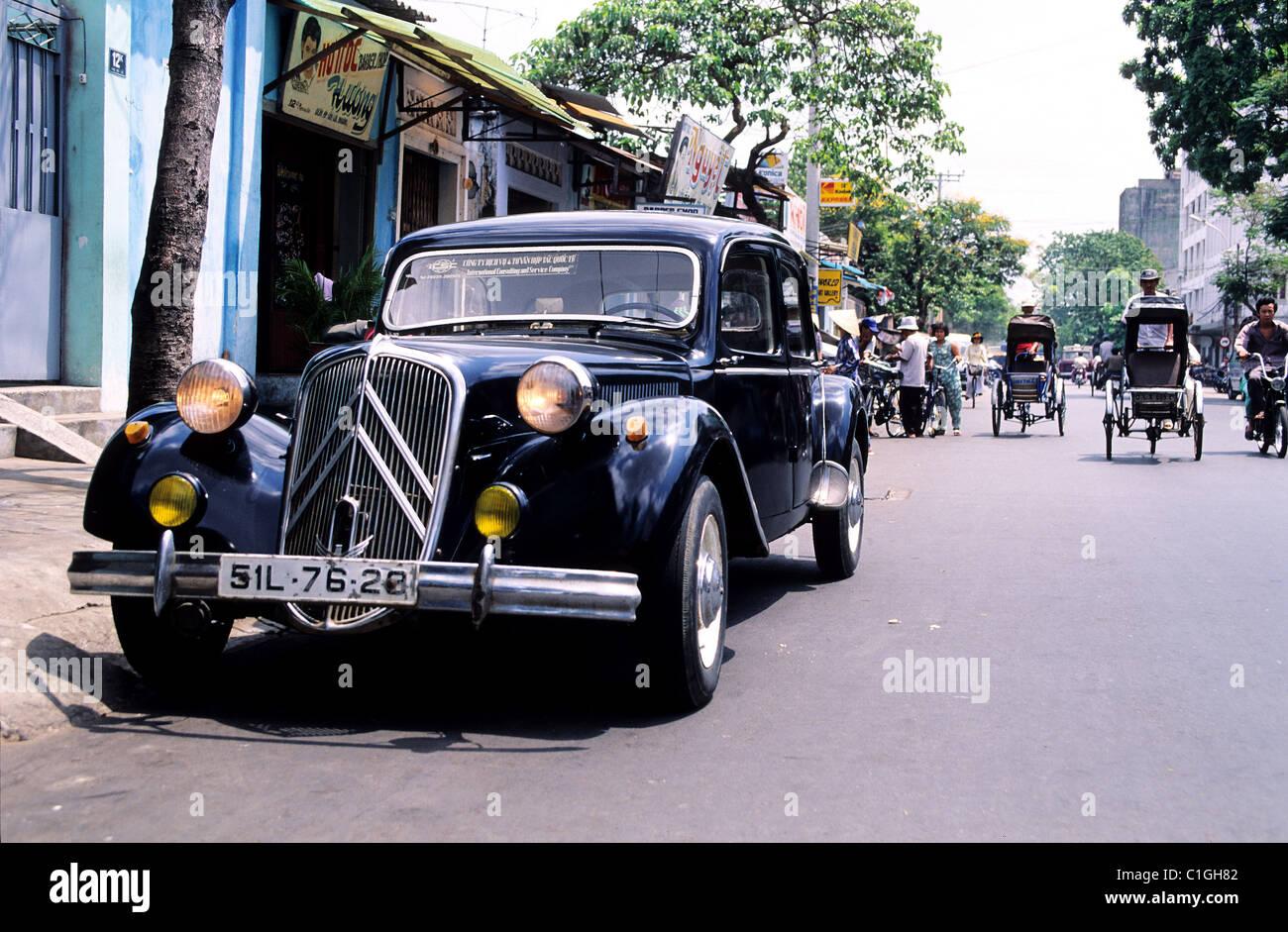 Vietnam, Saigon (Ho-Chi-Minh city), an old car Citroen Stock Photo ...