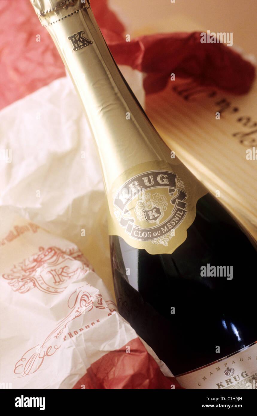 France marne reims bottle of champagne krug krug house for Champagne marne
