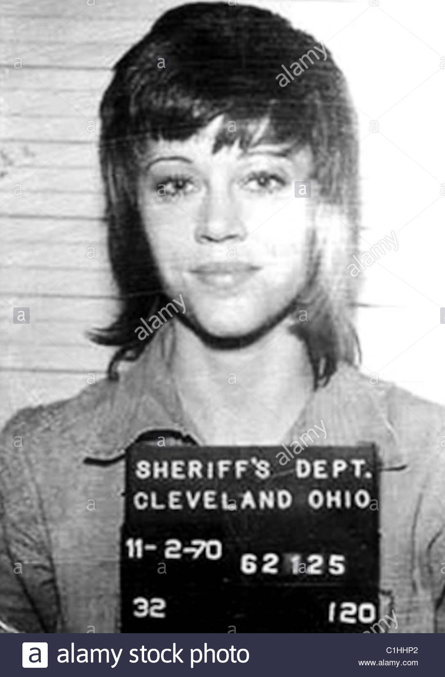 jane fonda mugshot stock photo royalty free image   alamy - jane fonda mugshot  stock photo