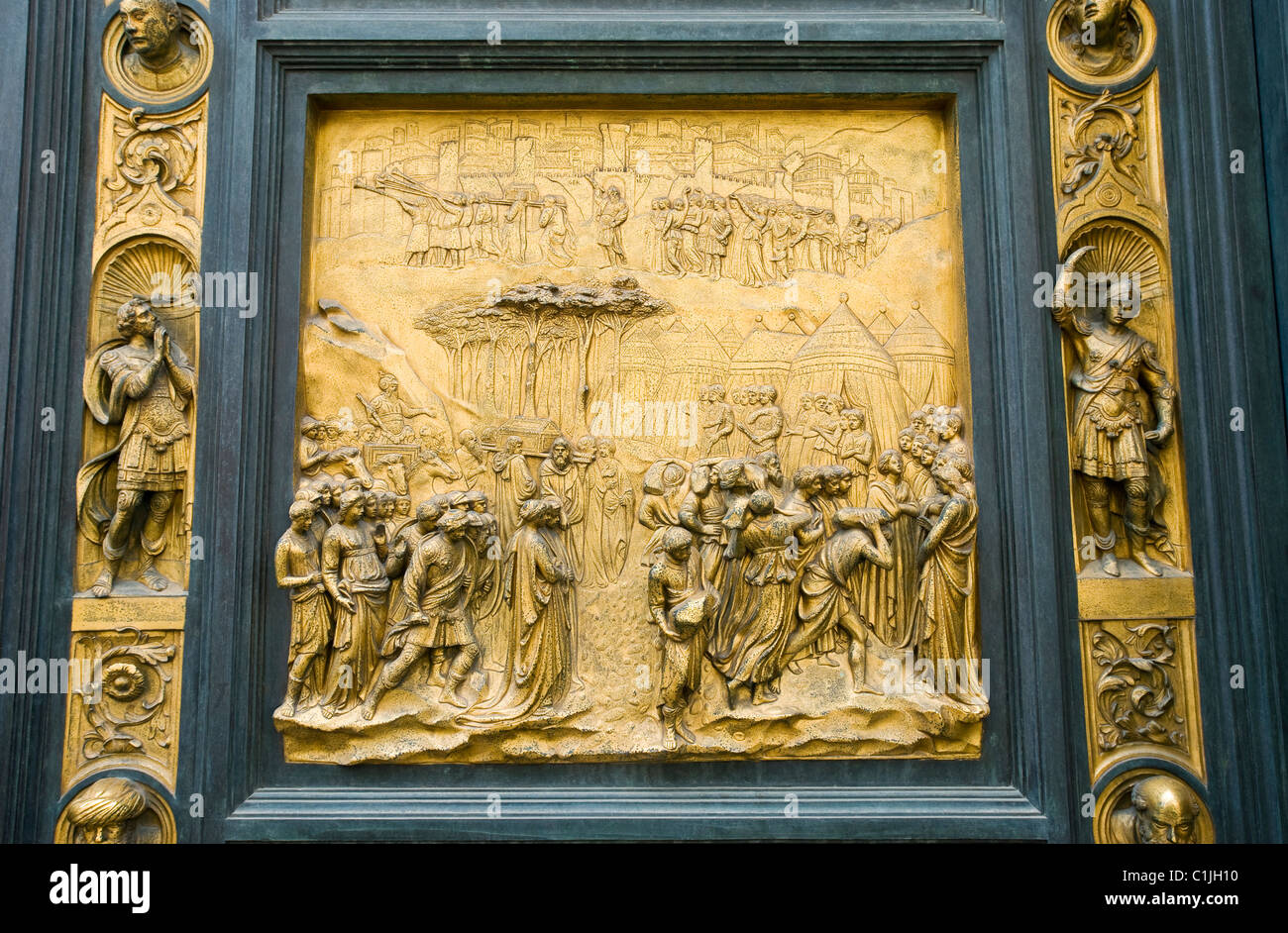 Florence Italy. The Battistero di San Giovanni with Bronze East Doors The Gates & The East doors or Gates of Paradise by Lorenzo Ghibertia on The ... Pezcame.Com