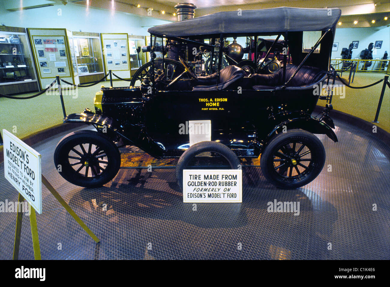 The 1916 model t ford touring car given by henry ford to thomas a edison