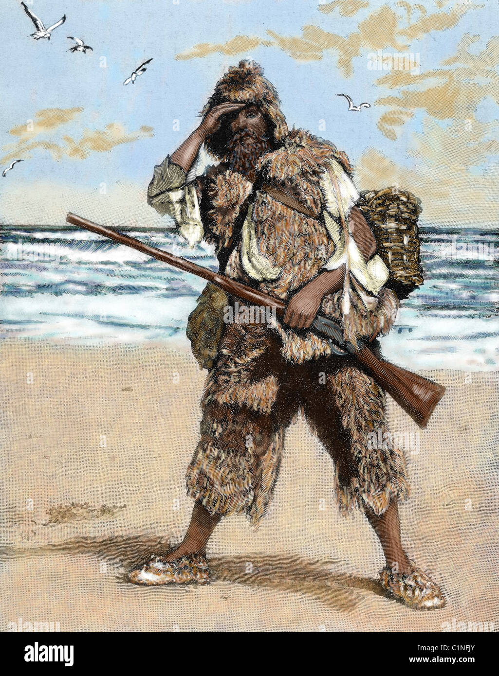Literature Robinson Crusoe Daniel Defoe Stock Photos  Literature