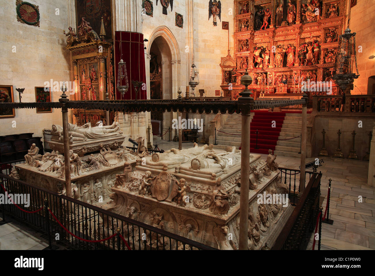 Spain Andalusia Granada the Capilla Real royal chapel with ...
