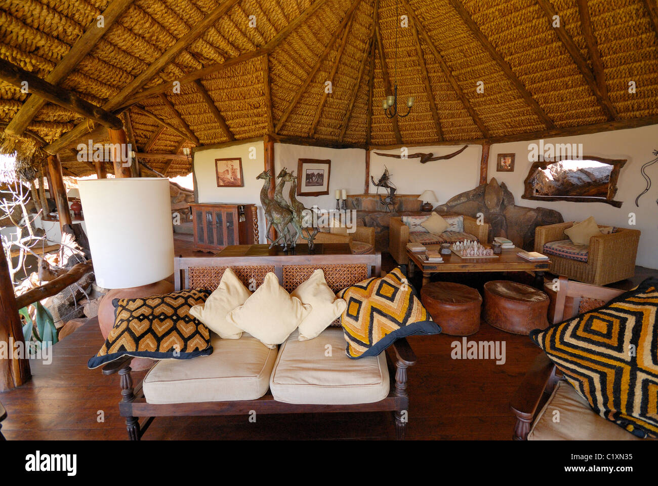Living Room Elsas Kopje Luxury Lodge Meru National Park Kenya