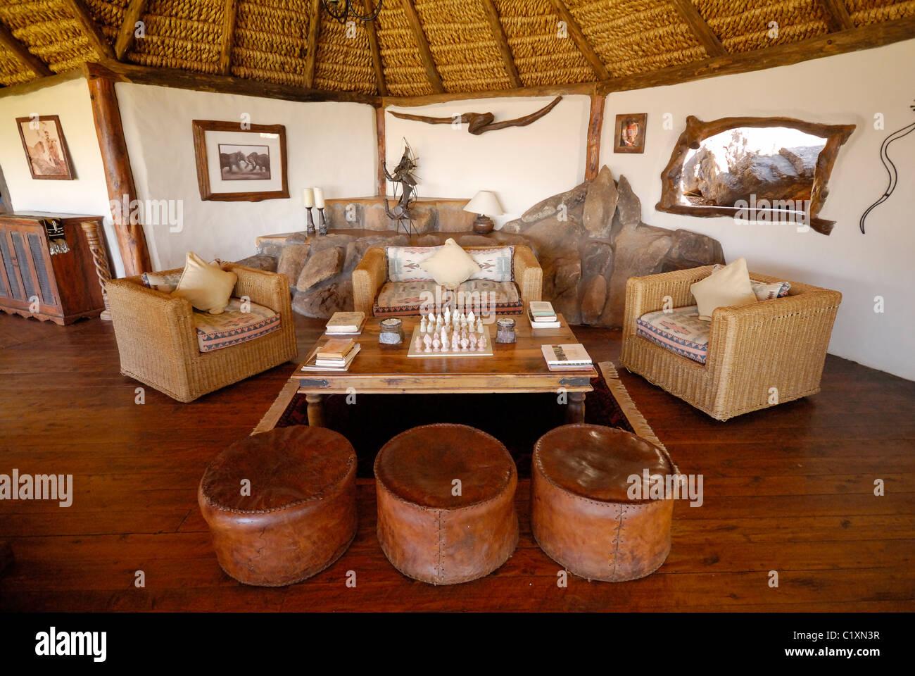 Living Room Elsas Kopje Luxury Lodge Meru National Park Kenya Africa