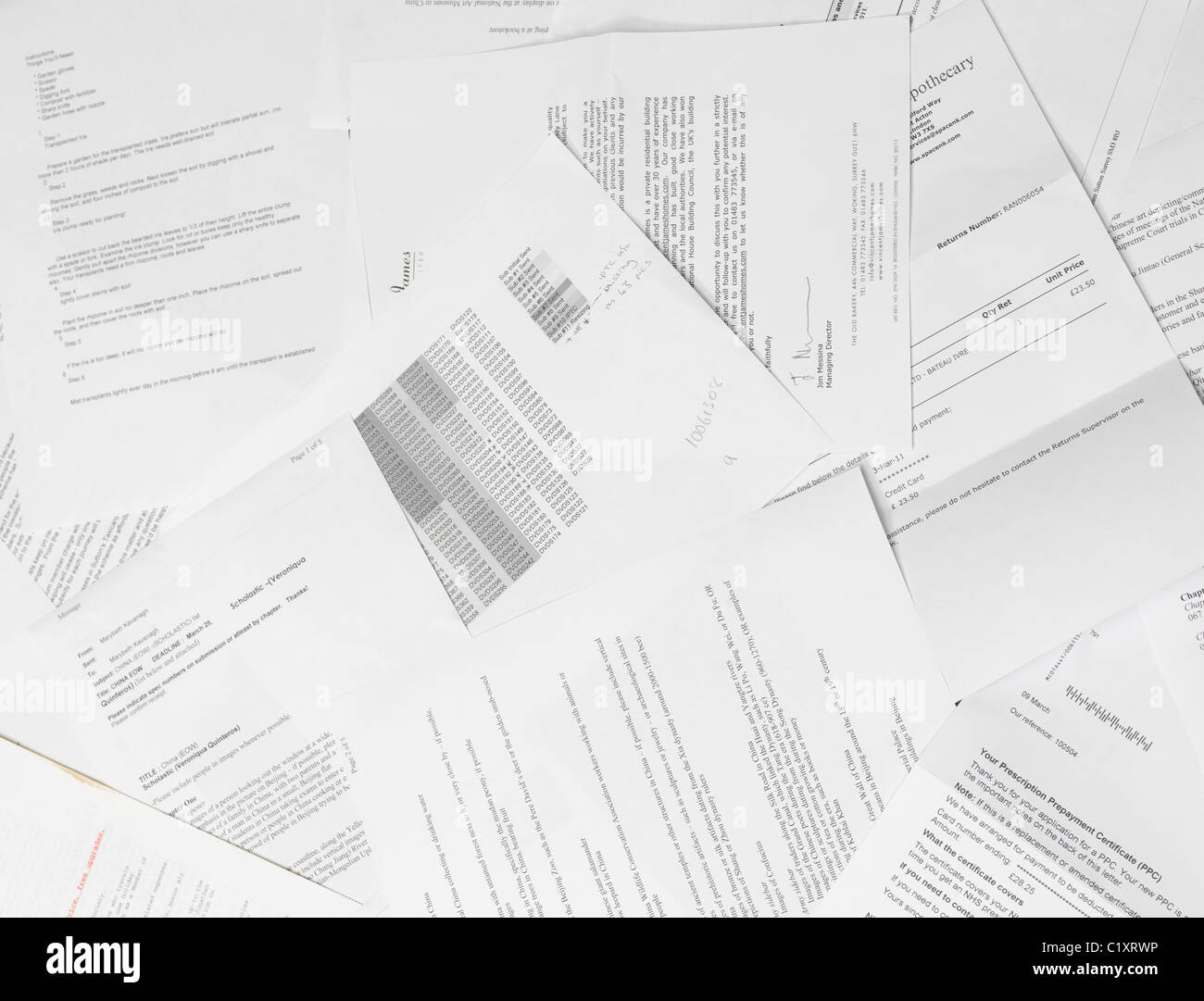 Scattered Paper Reports And Documents Stock Photo, Royalty Free ...