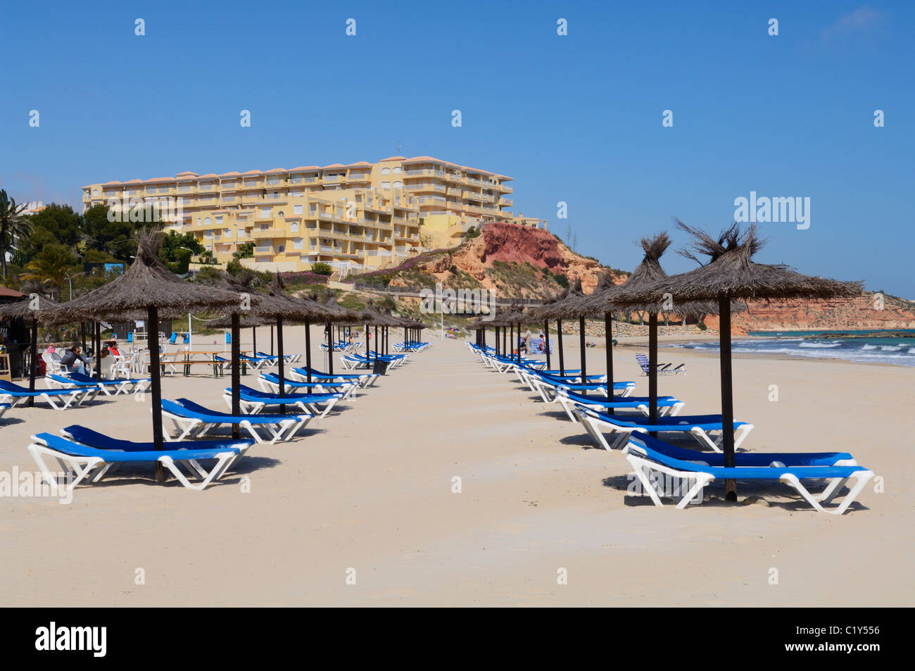 Campoamor beach at dehesa de campoamor orihuela alicante - Stock uno alicante ...