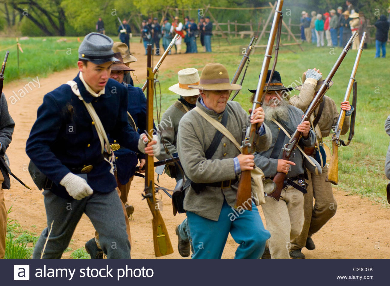 New mexico civil war reenactment at glorita pass