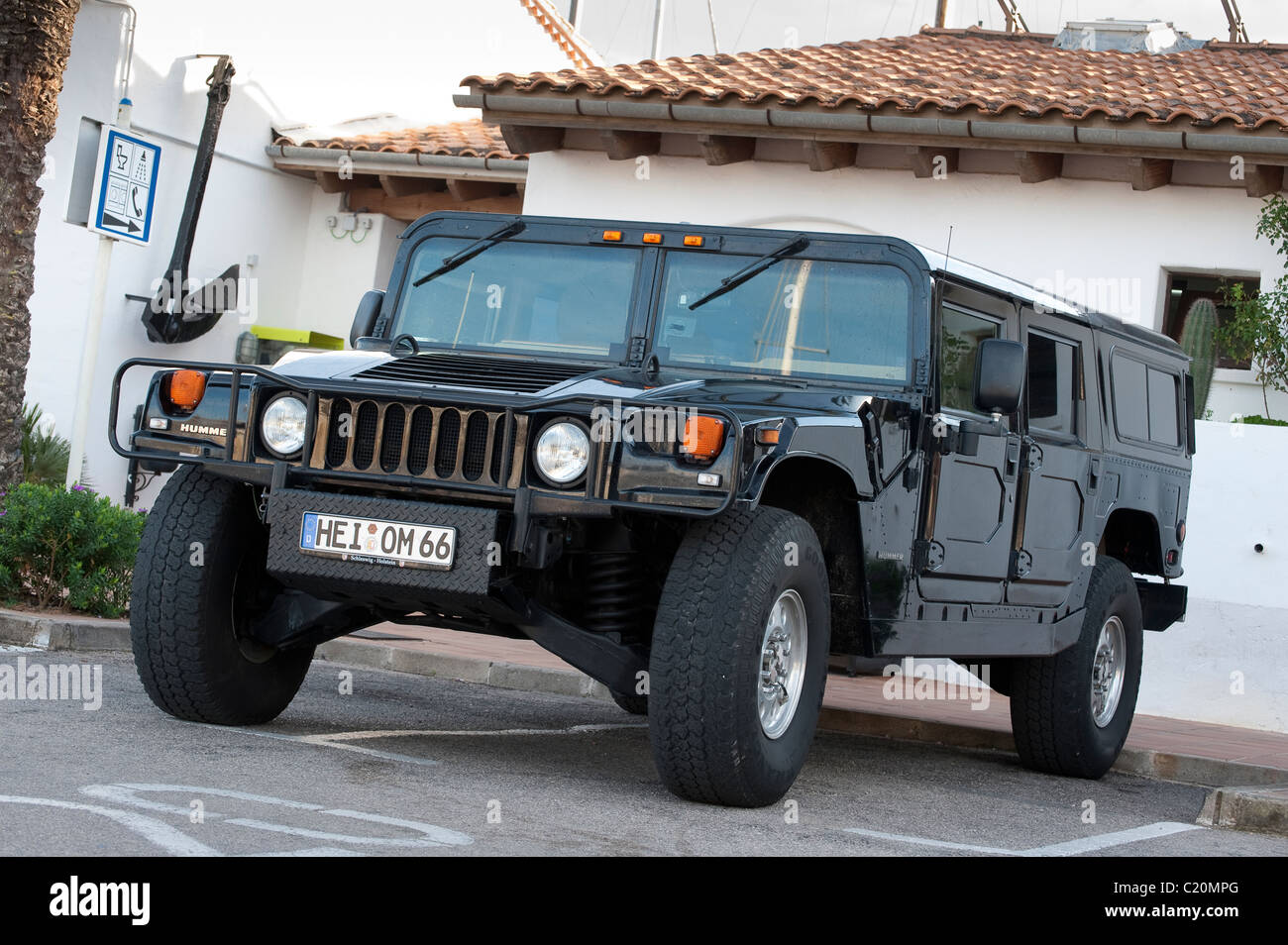 Hummer h1 civilian off road vehicle in spain stock image