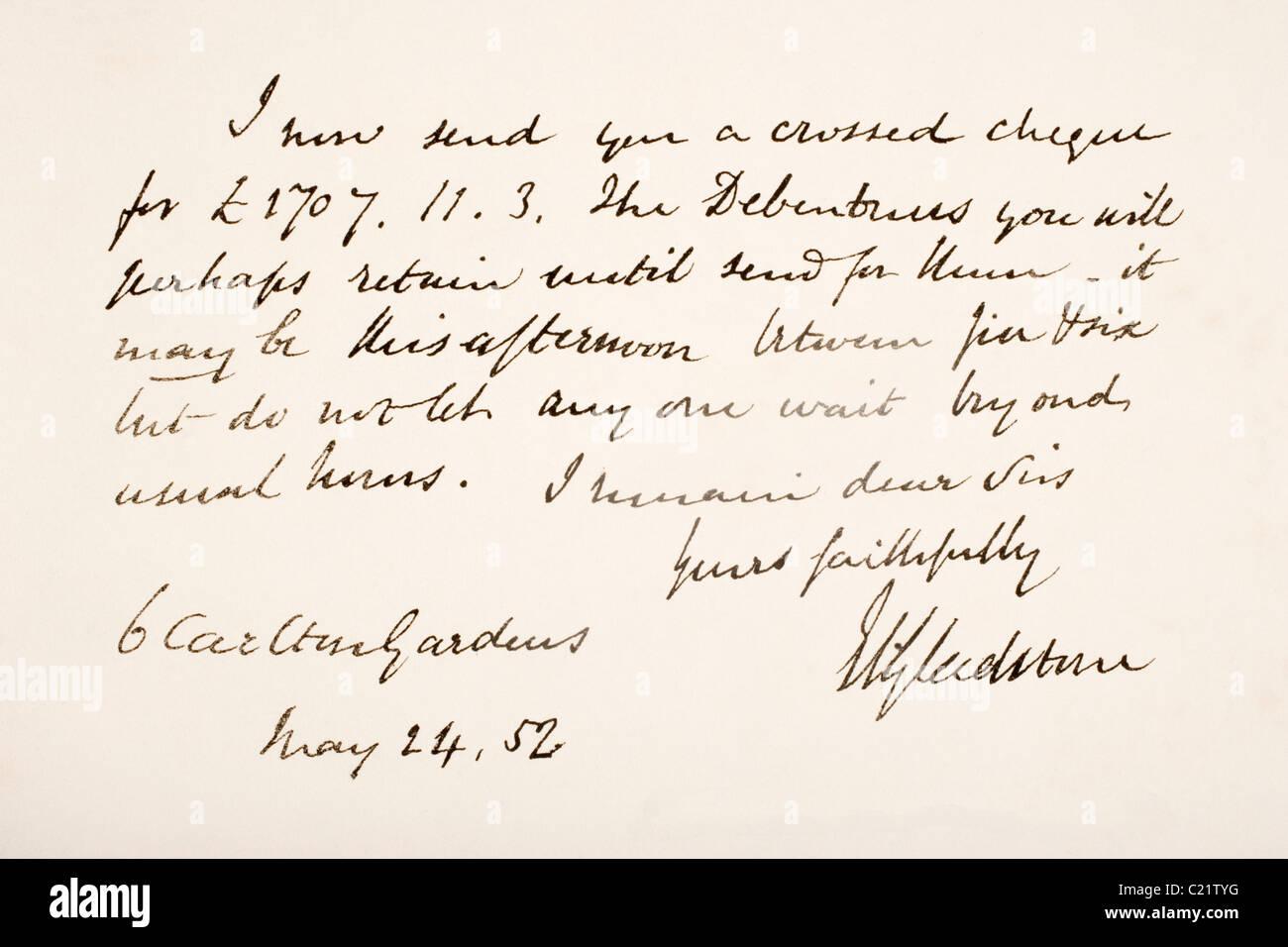 william ewart gladstone 1809 1898 british liberal statesman