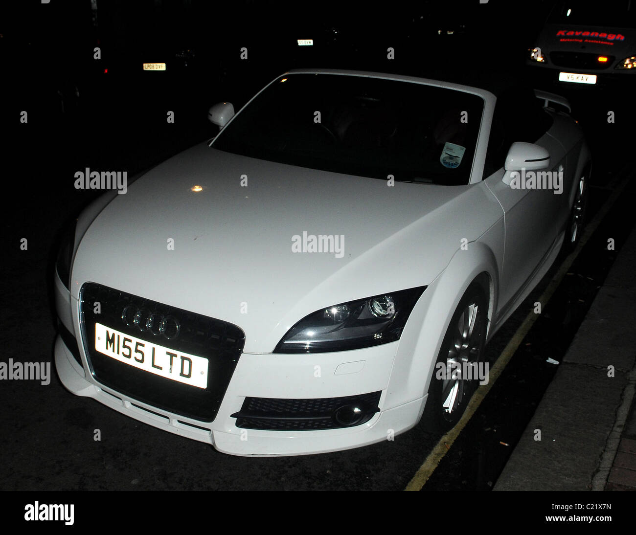 Chantelle Houghtons White Audi TT Cabriolet With The Number Plate - Audi car number