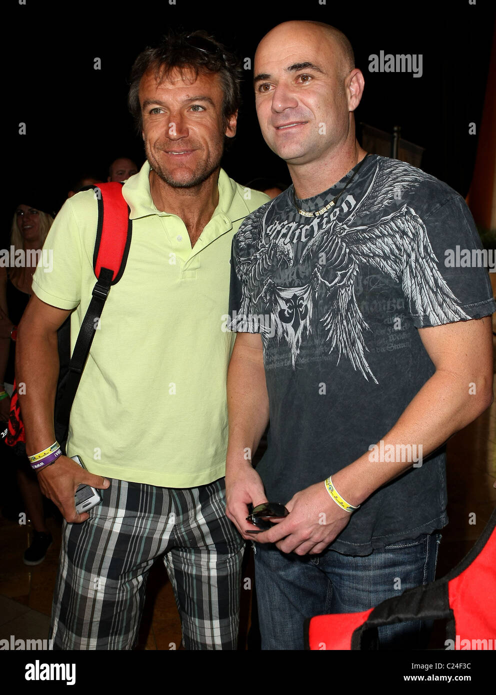 Mats Wilander and Andre Agassi Tony Hawk RIDE Presents The Stand
