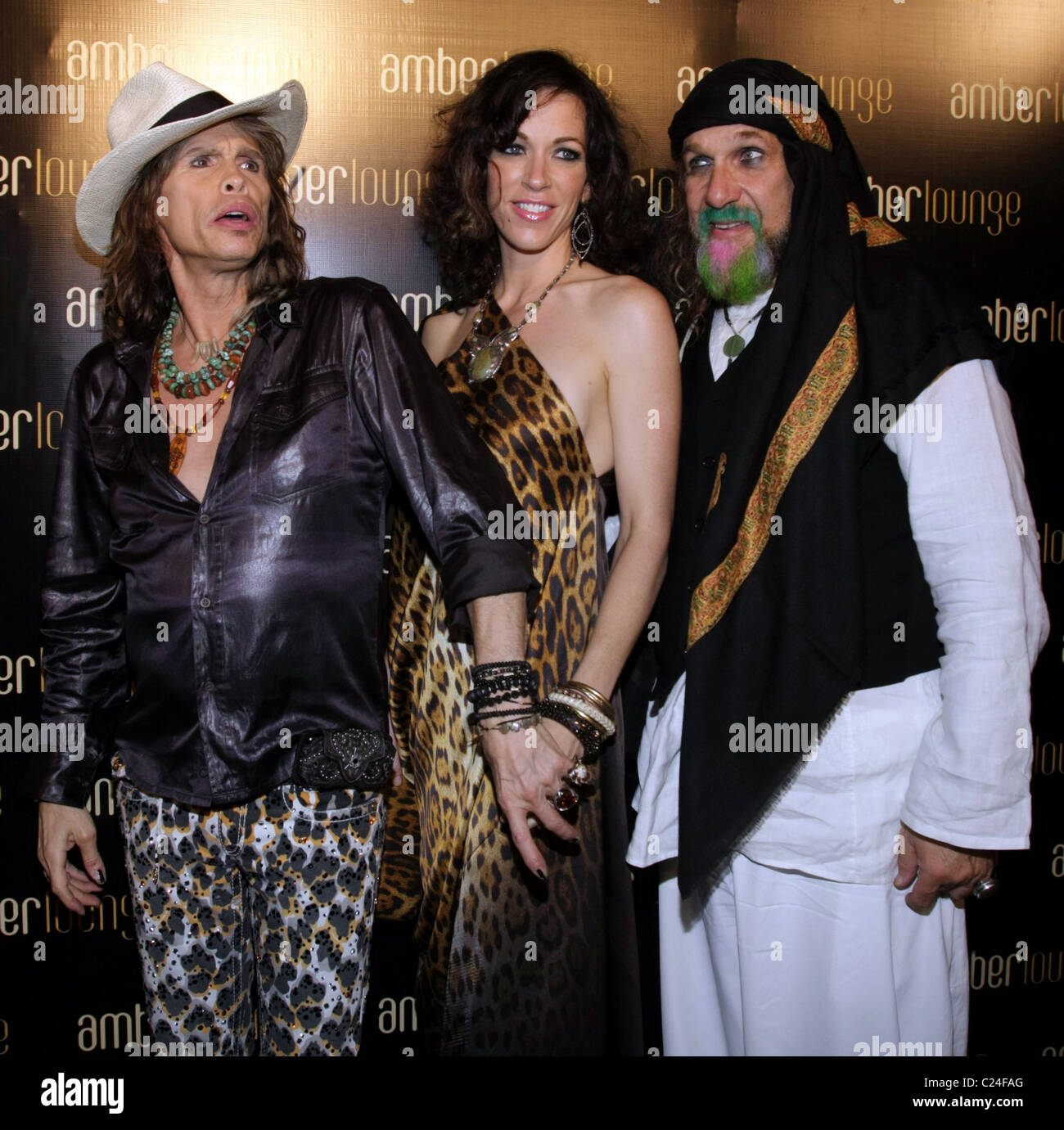 Erin Brady and Steven Tyler and guests Amber lounge F1 after party ...