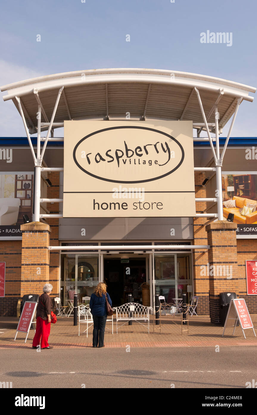 the raspberry village home store at longwater retail park in norwich stock photo royalty free. Black Bedroom Furniture Sets. Home Design Ideas