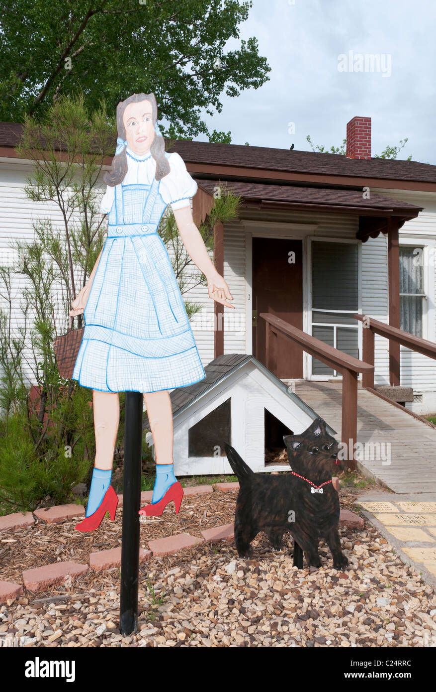 Kansas Liberal Dorothys House Replica Of Fictional Farmhouse Depicted In 1939 Motion Picture The Wizard Oz