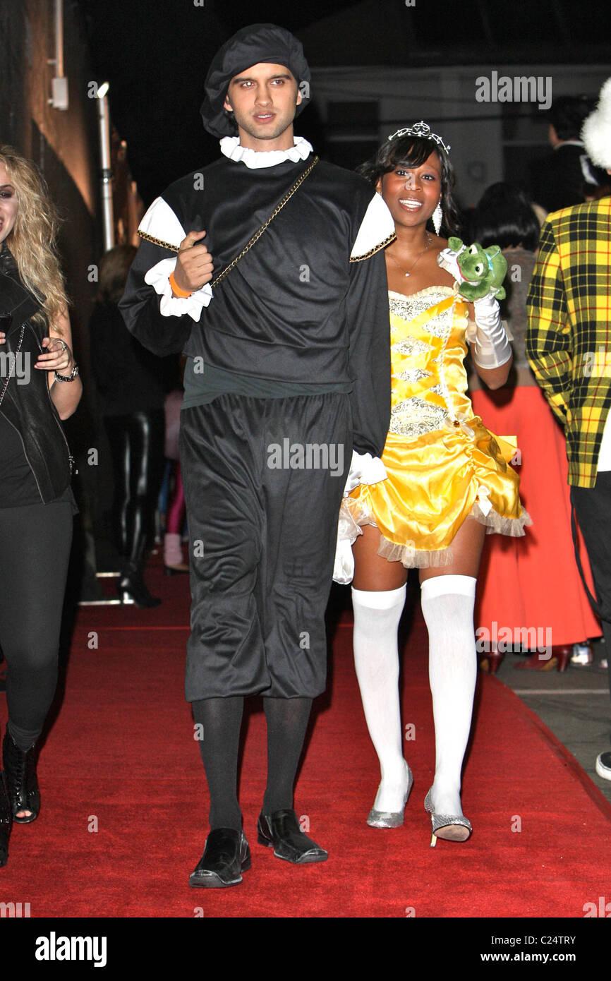 Michael Steger & friend arriving at Heidi Klum's Halloween Party ...