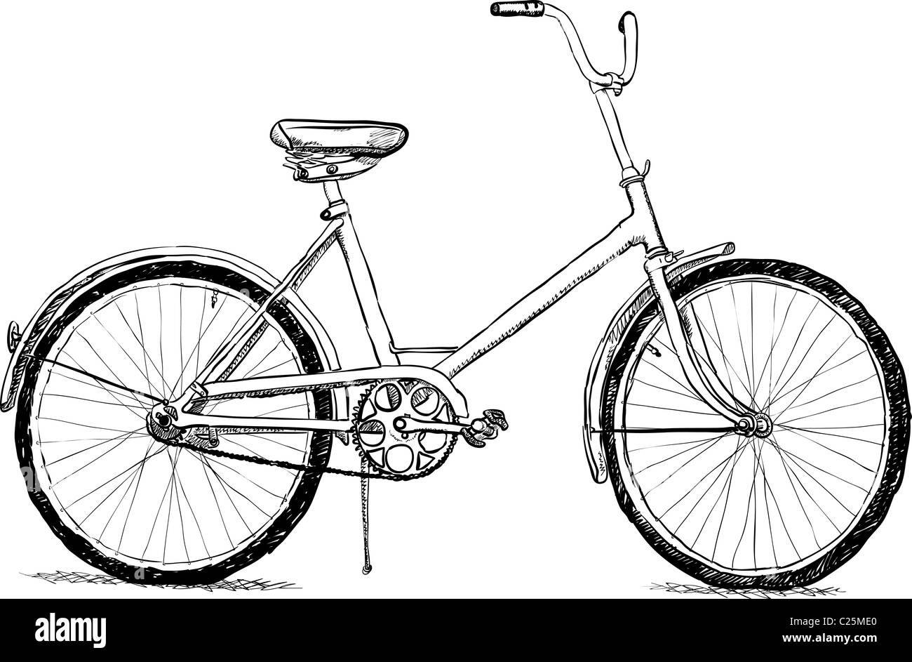 Simple bicycle illustration - photo#7
