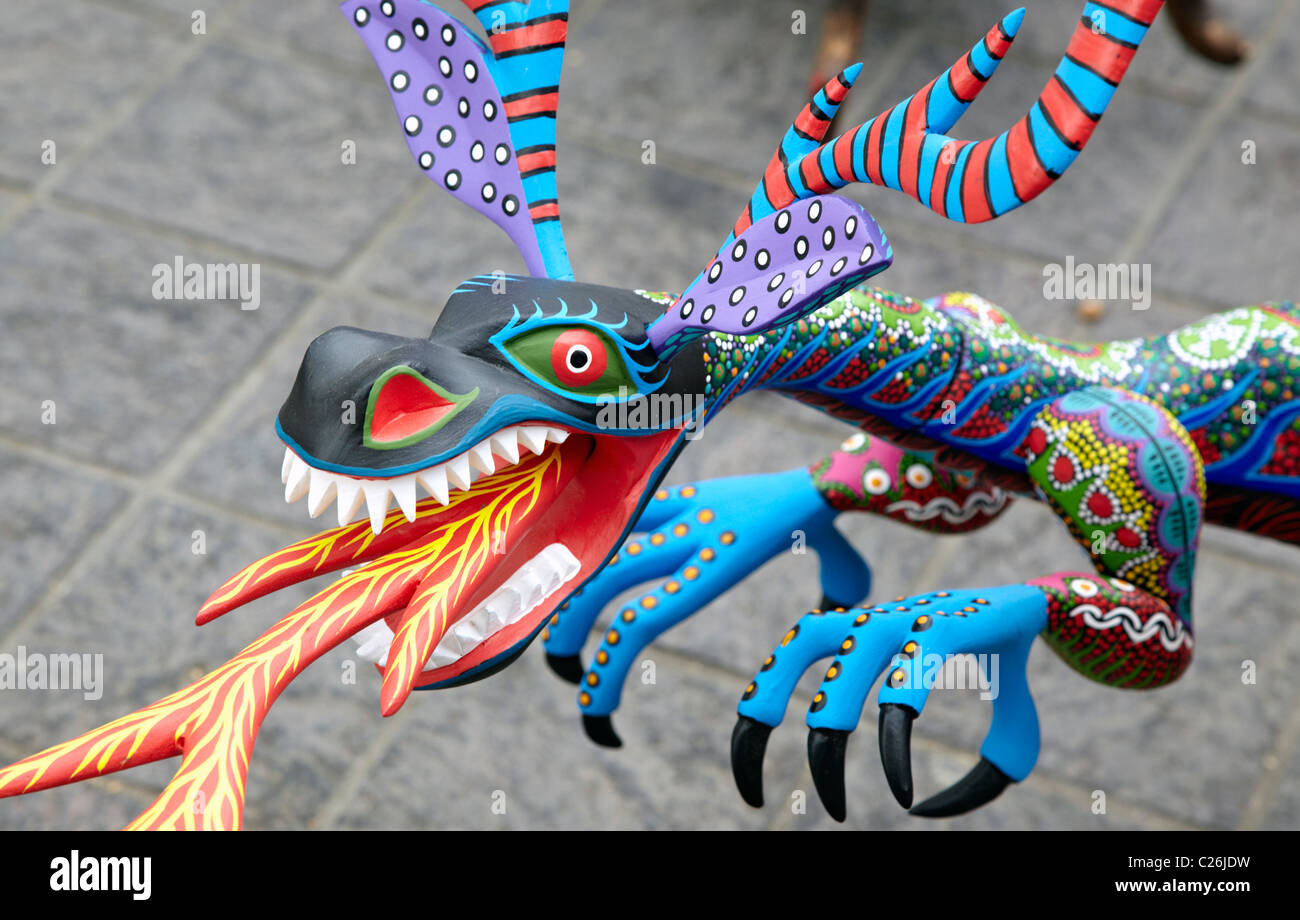alebrijes crafts oaxaca city mexico stock photo royalty