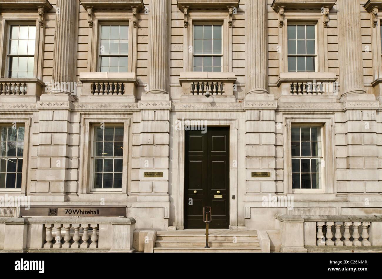 the cabinet office entrance 70 whitehall, london uk stock photo