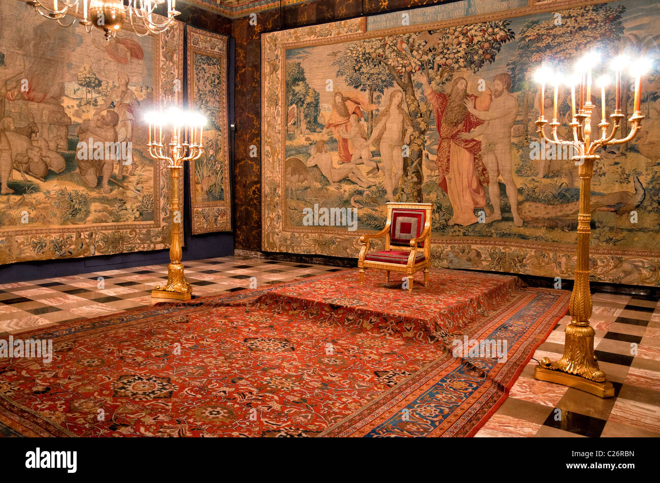 wawel castle interior stock photos & wawel castle interior stock