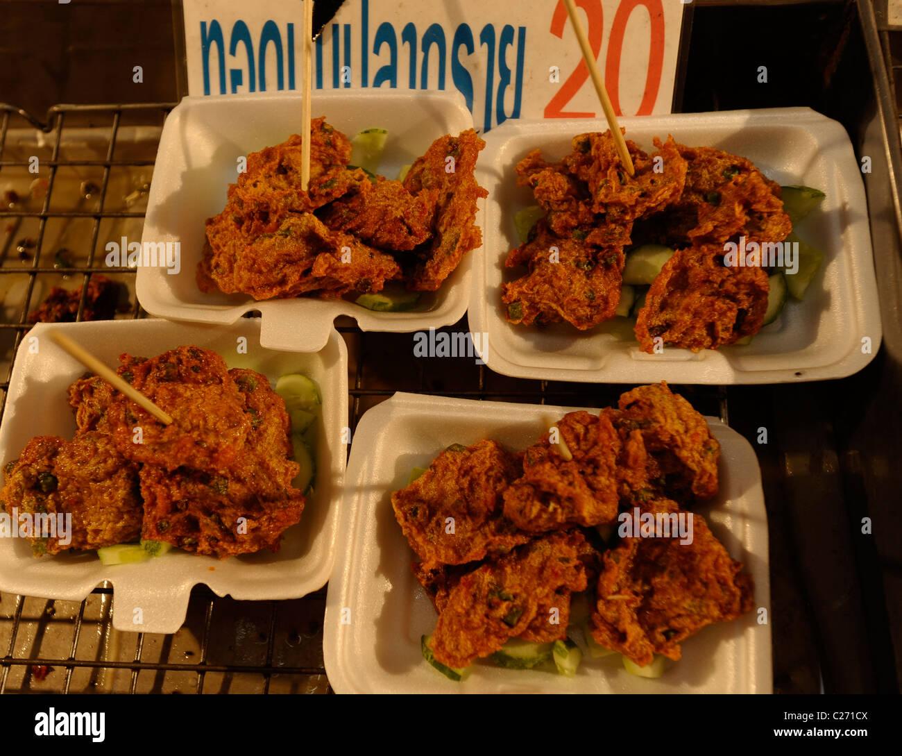 Stock Photo Thai Fish Cakes Tod Mun Pla Street Food Bangkok Thailand