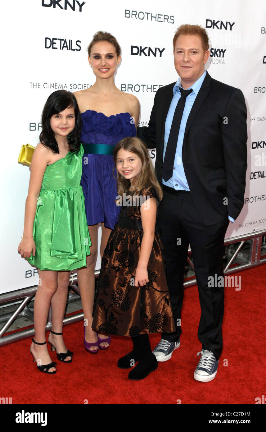 l-r) Bailee Madison, Natalie Portman, Taylor Geare And Producer ...