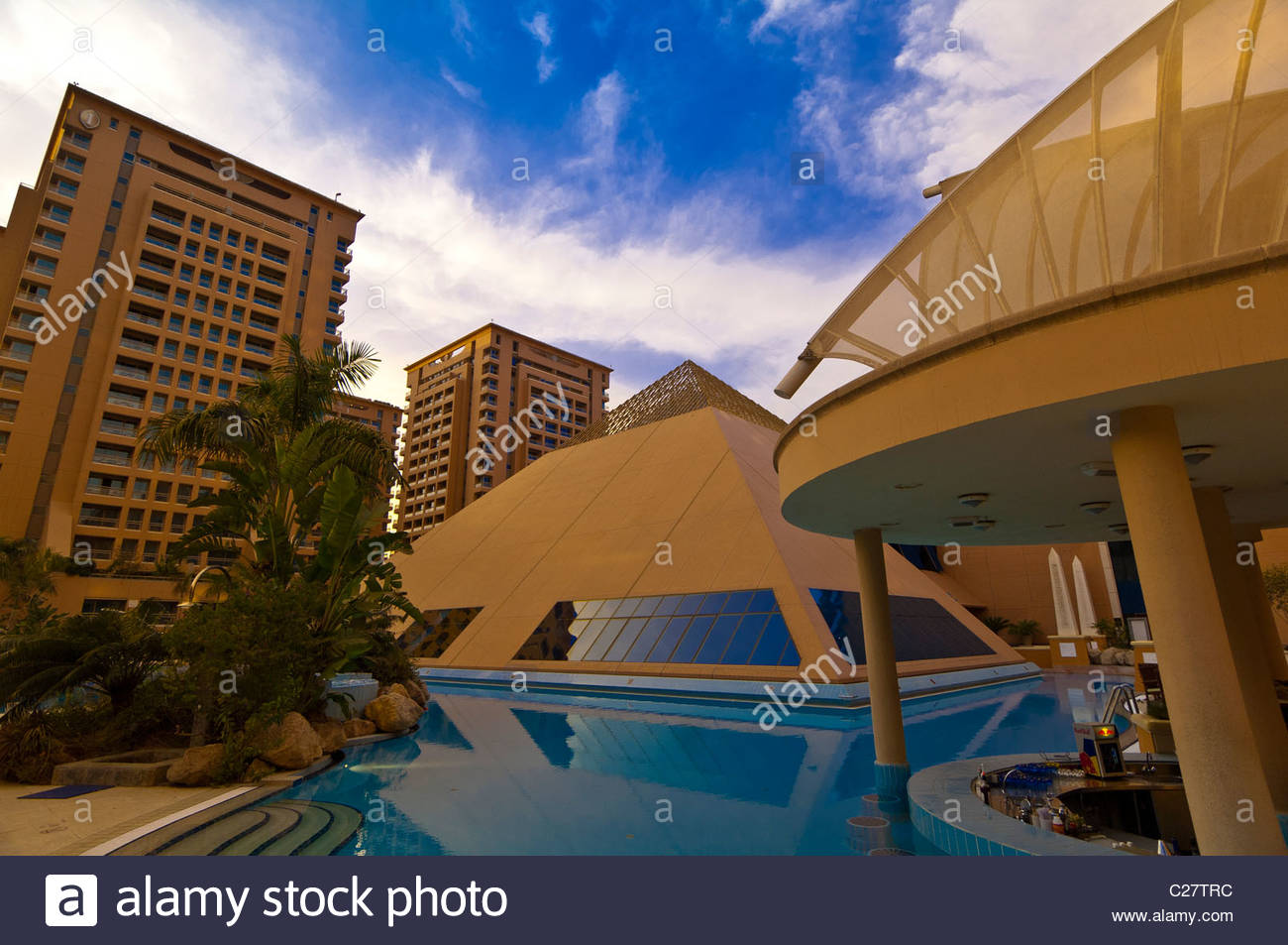 Swimming pool intercontinental cairo city stars hotel cairo egypt stock photo royalty free for Stars swimming pool tacloban city