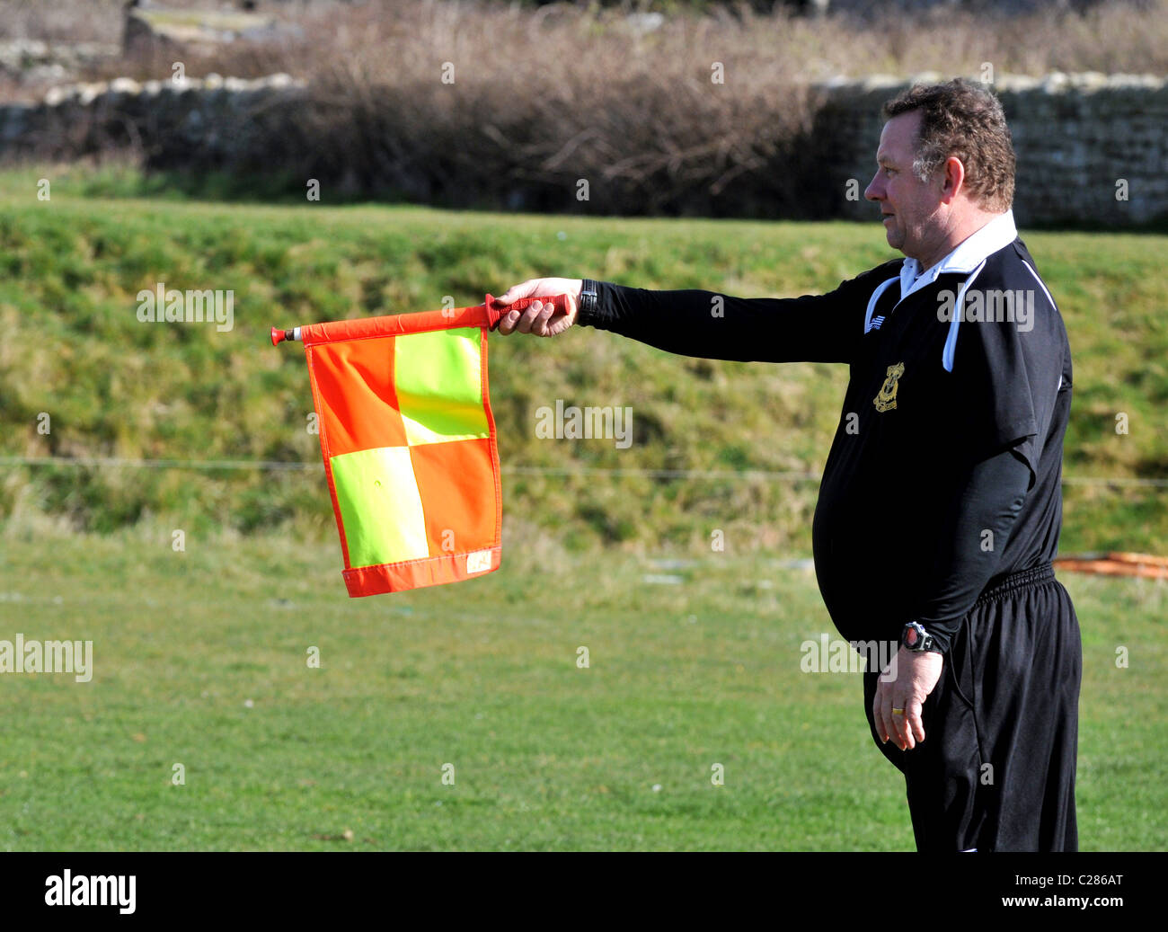 Linesman, football linesman, referee's assistant Stock