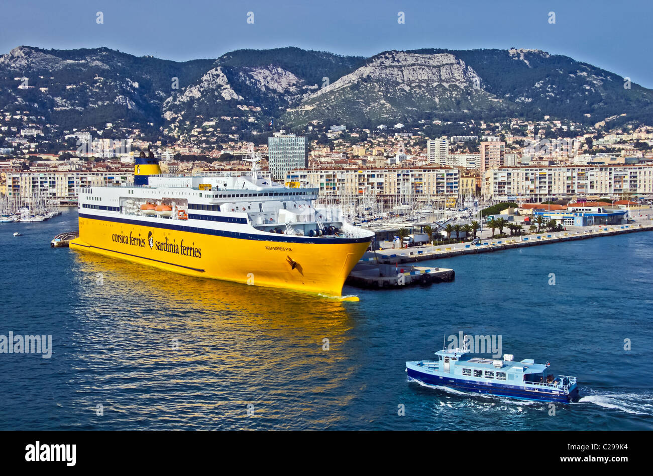 corsica and sardinia ferries 39 car and passenger ferry mega express stock photo royalty free. Black Bedroom Furniture Sets. Home Design Ideas