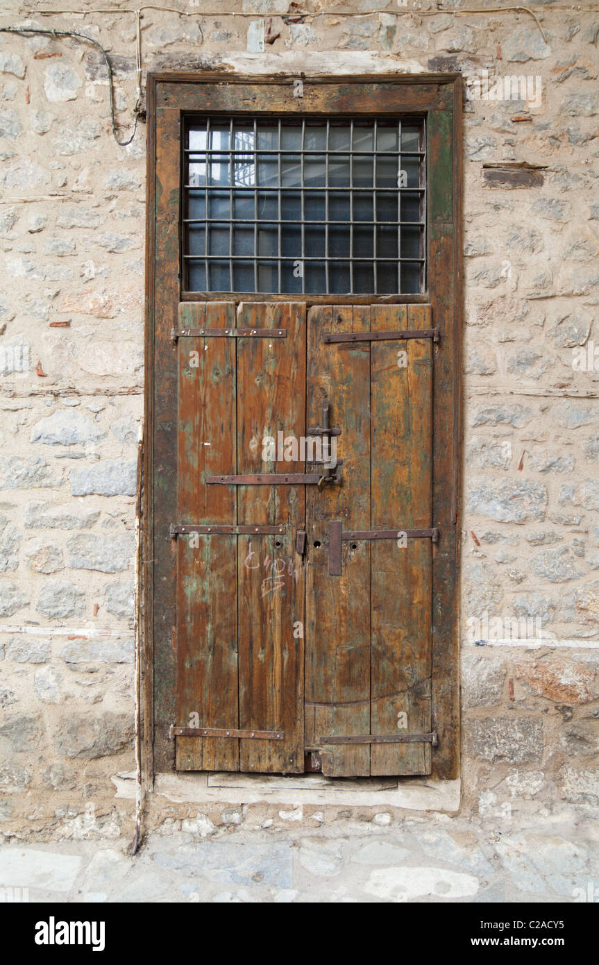 Old wooden freight door with rusty heavy duty hinges & Old wooden freight door with rusty heavy duty hinges Stock Photo ... pezcame.com