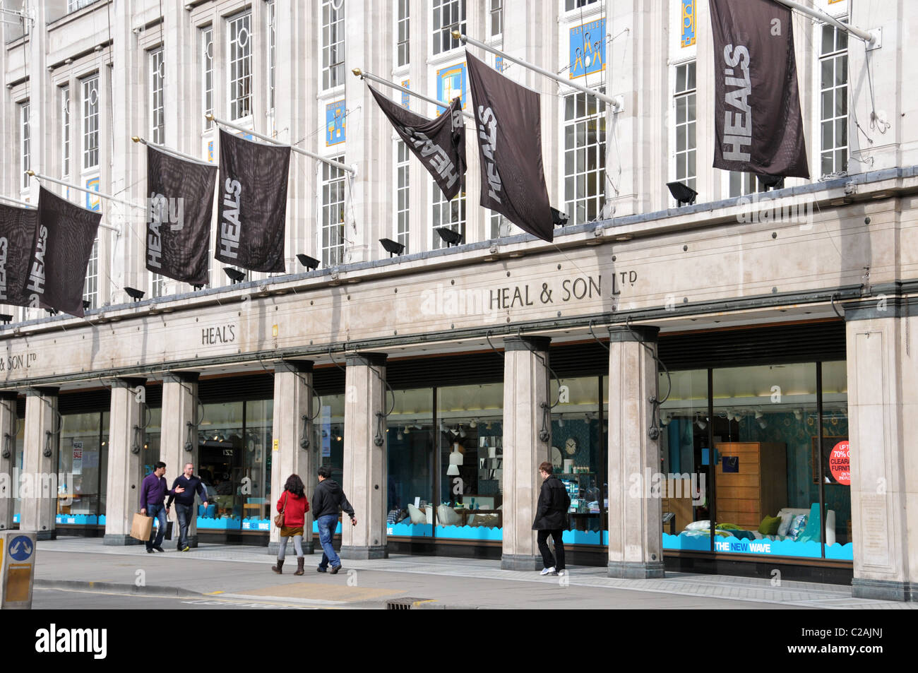 heals heal son ltd furniture store tottenham court road furnishings stock photo royalty free