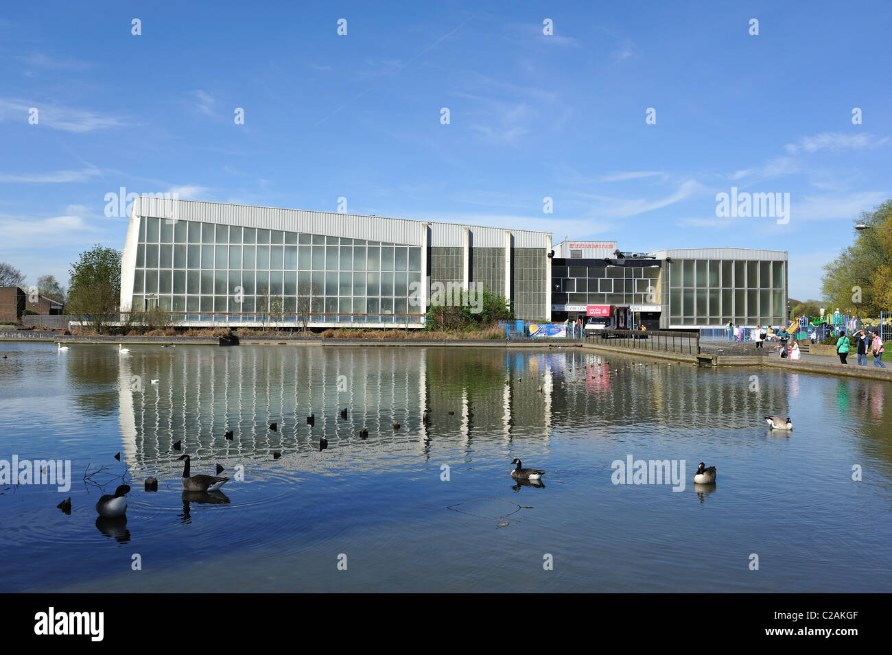 Gloucester park swimming pool basildon essex stock photo royalty free image 35884927 alamy for Swimming pools near gloucester