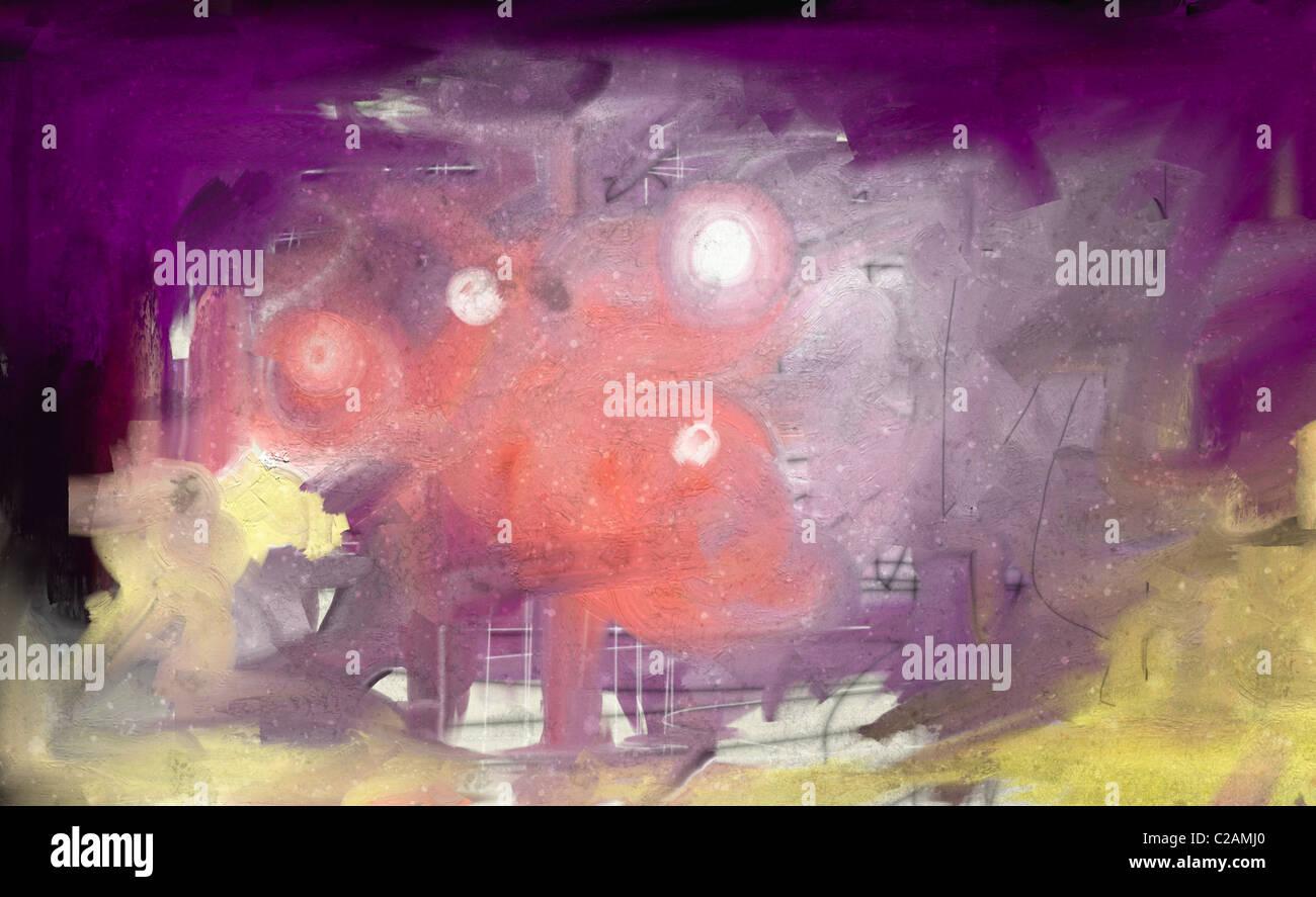 Abstract Art Mixed Media Grunge Stock Photo: Modern Abstract Mixed Media Wall Art Painting