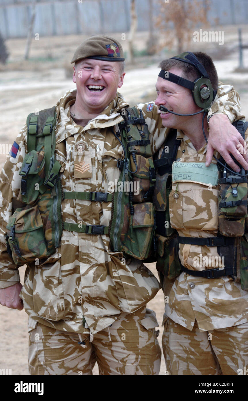 Members from the 1st battalion welsh guards on their tour of duty in iraq happy smilly