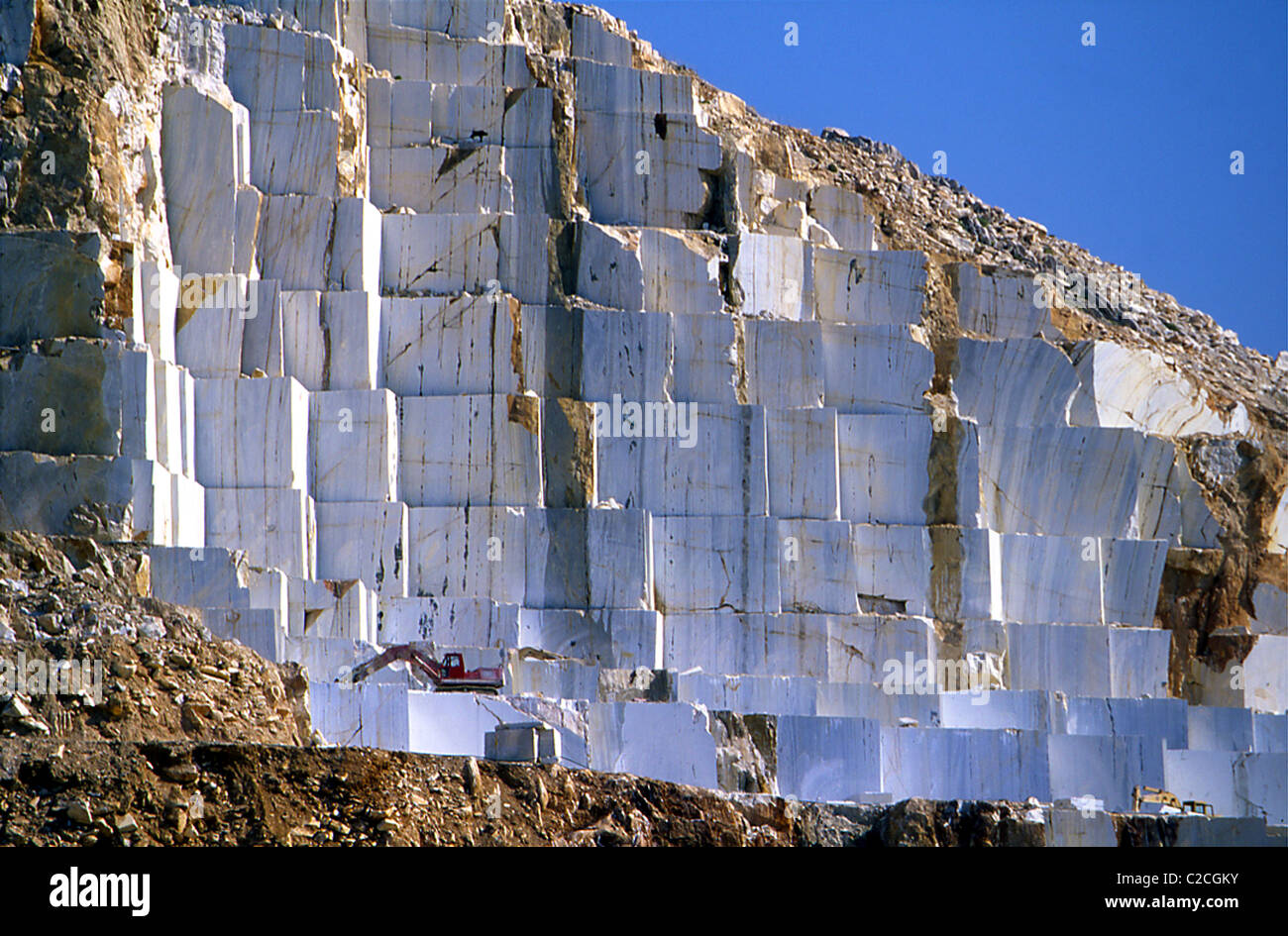 Marble Quarry In Naxos Island Greece Stock Photo Royalty
