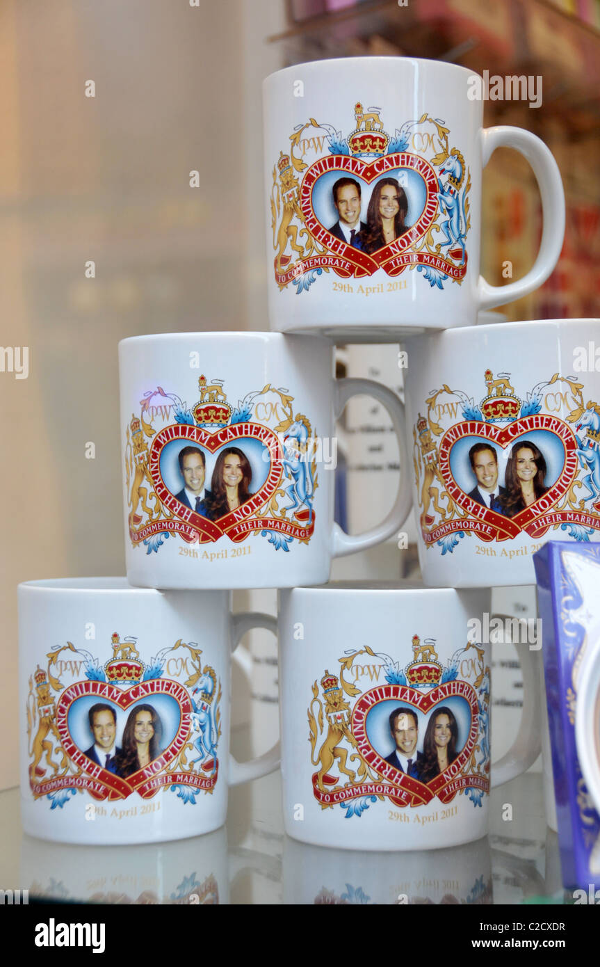 Wedding Wedding Souvenirs william kate middleton royal wedding souvenirs mugs plates stock photo patriotic prince princess romantic fairy tale fairytale tat che